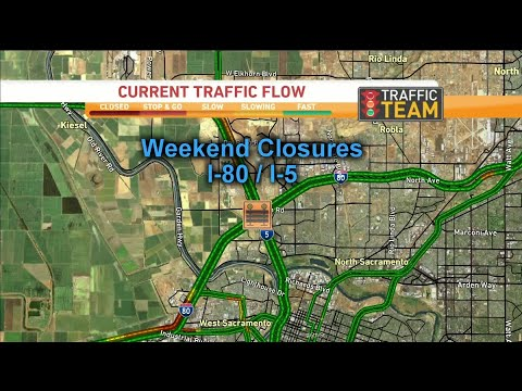 Weekend Traffic Alert: Closures Planned On I-80, I-5 In