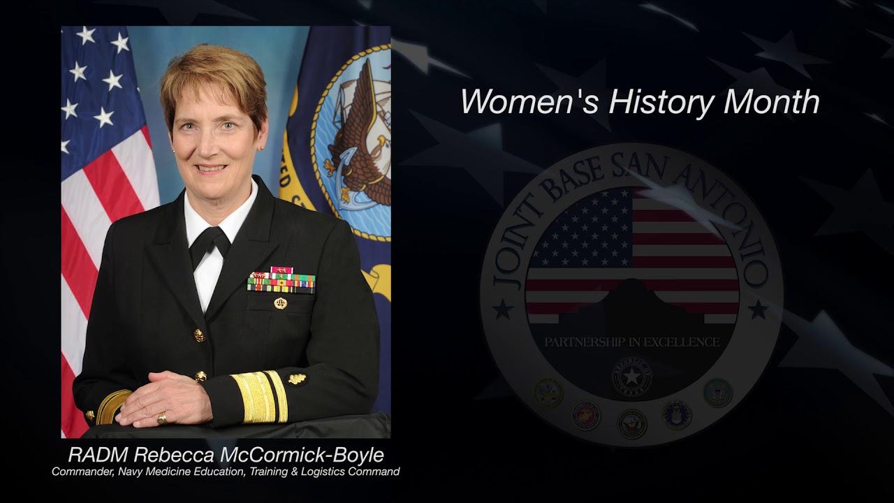 Rear Adm  Rebecca J  McCormick-Boyle on Women's History Month
