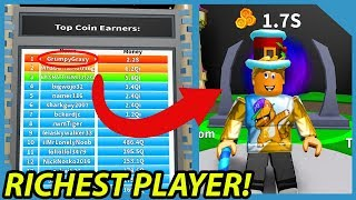 I am the Richest Player on the Fantasy Realm in Roblox Billionaire Simulator *#1 On Leaderboard*
