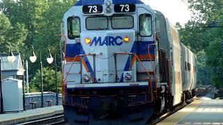 MARC Diesel Engine 73 southbound at Dorsey Station, Maryland