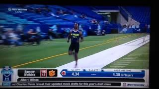 sammy watkins 40 yard dash attempt 2 nfl combine