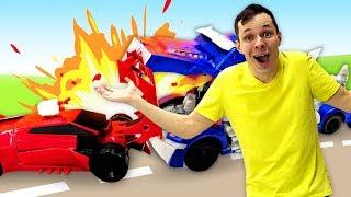 Роботы Трансформеры - Фёдор ремонтирует Автоботов! - Игры для мальчиков в Автомастерской.