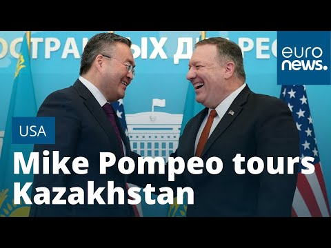 Mike Pompeo tours Kazakhstan with warning over Chinese investment