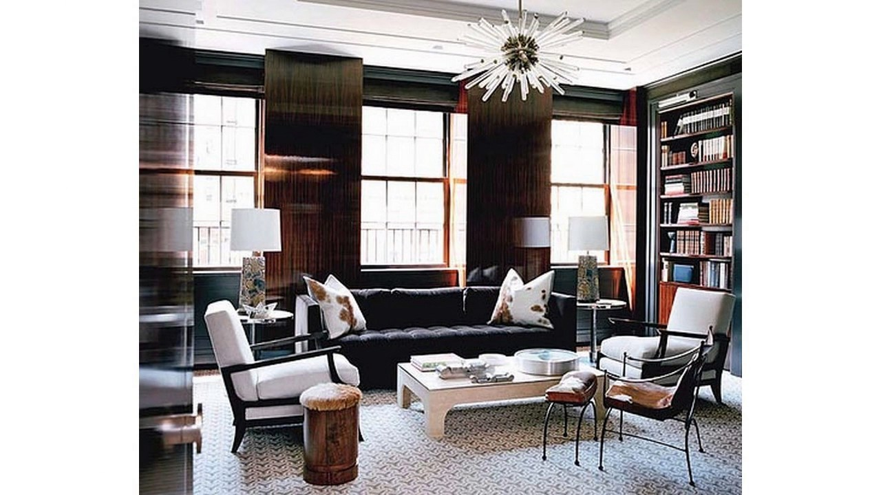 Ideas De La Sala De Estar Con Sofa Negro Youtube - Salones-con-sofa-negro