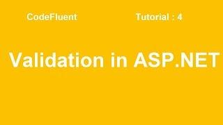 Validation in ASP.NET