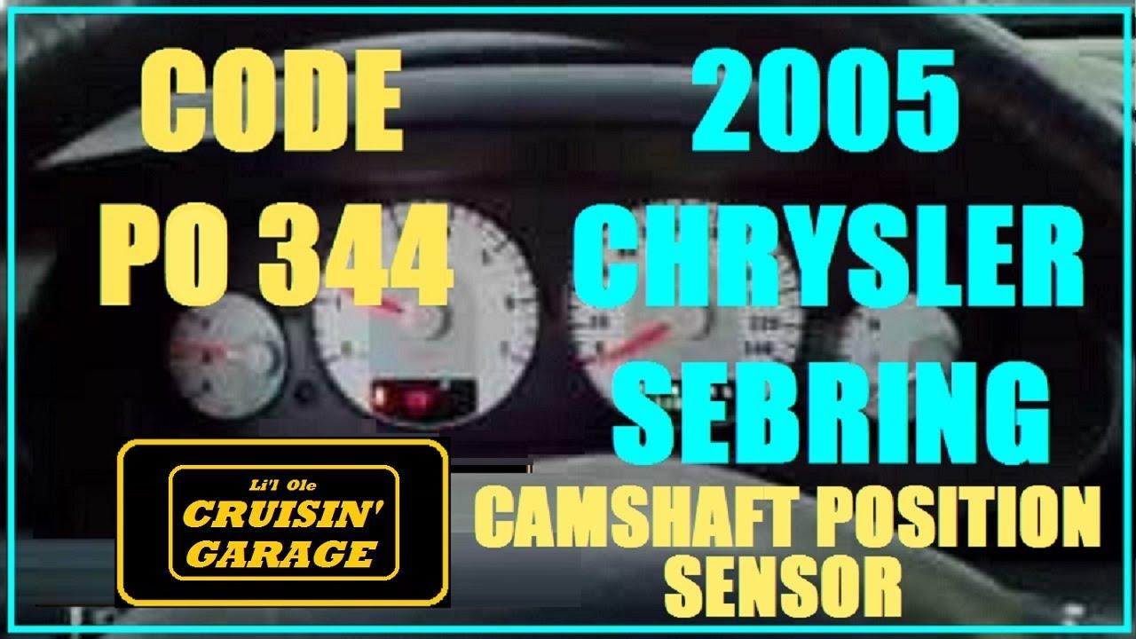 small resolution of 2005 chrysler sebring code p0344 camshaft position sensor
