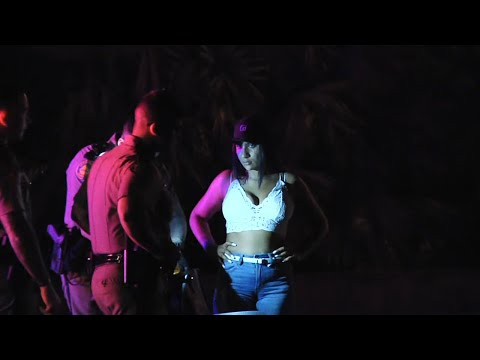 Woman Lucky To Be Alive After Car Vs Pole And Trees Crash, After Leaving Miami Beach Florida USA.