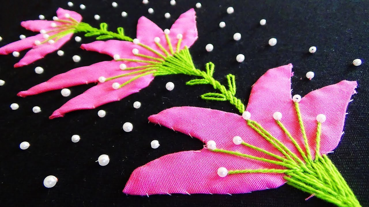Hand embroidery: applique work youtube