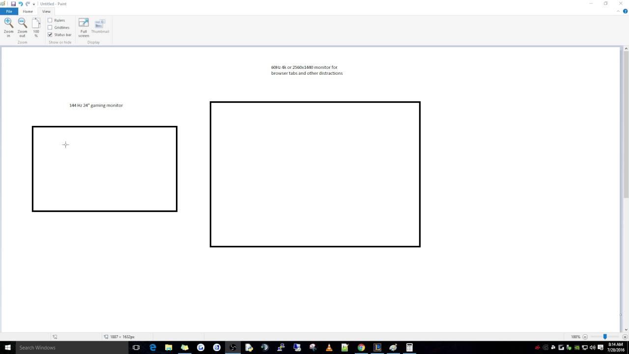 144 Hz + 60 Hz dual monitor desync / vsync problem