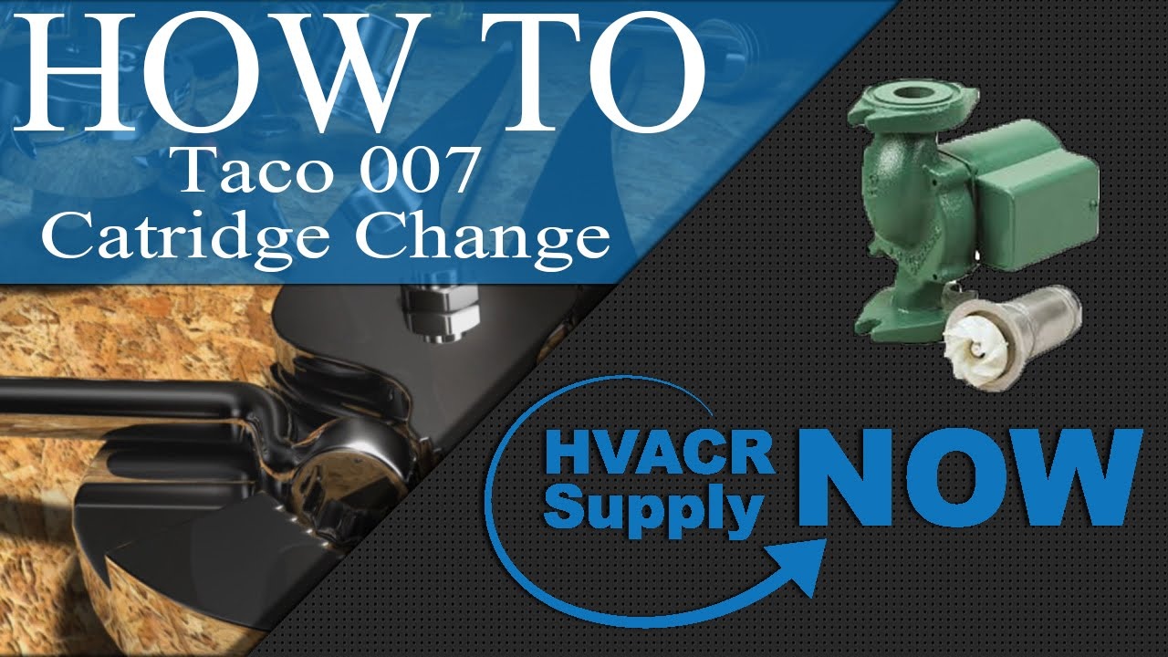 Taco 007 Sf5 Pump Wiring Diagram Hot Water Boiler Changing The Cartridge In A Hvacrsupplynow Youtube F5 Replacement