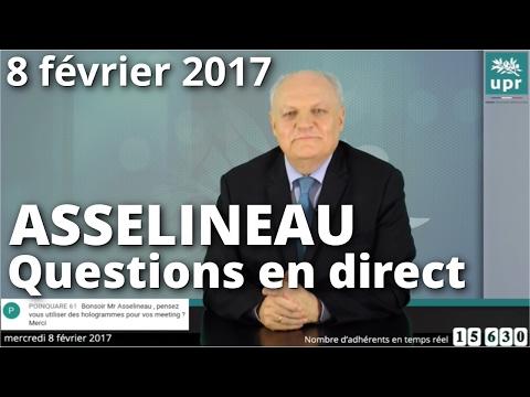 Entretien en direct de François Asselineau sur Facebook et YouTube