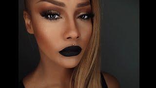 One of sonjdradeluxe's most viewed videos: START TO FINISH CONTOUR & SKIN BLACK VELVET LIP - SONJDRADELUXE