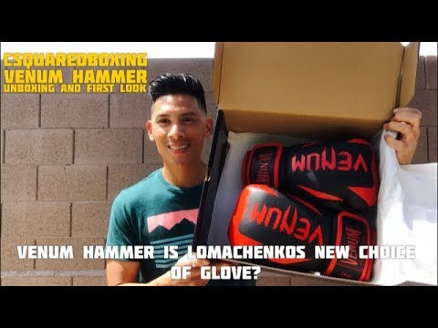 Venum Hammer Boxing Gloves- UNBOXING AND FIRST LOOK! LOMACHENKO'S NEW GLOVES!