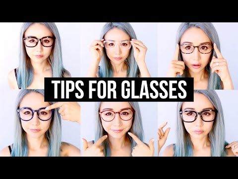 Right Glasses for Your Face Shape & Makeup Hacks & Tips For Glasses ♥ Wengie