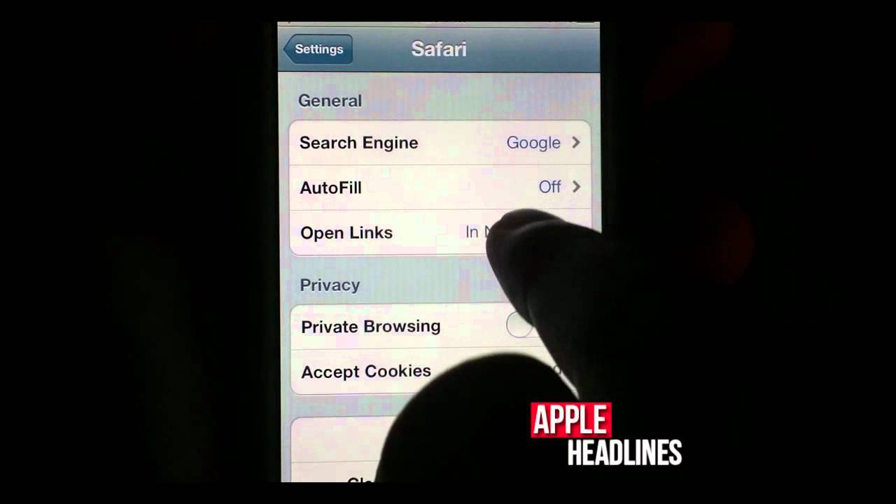 where is private browsing on iphone how to enable browsing in mobile safari on ios 5 7006