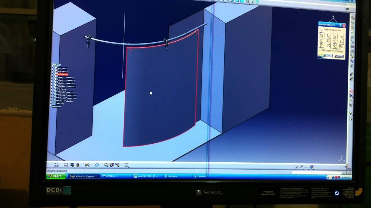 Avance proyecto puerta curva youtube for Puertas correderas curvas