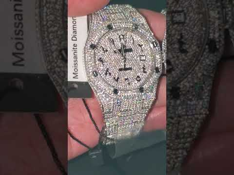 Full diamond watch, moissnite