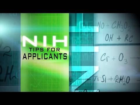 NIH Tips for Applicants