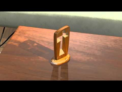 """The """"Cross"""" 3D animation of real sculpture."""