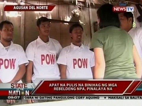 SONA: 4 Na Pulis Na Binihag Ng Mga Rebeldeng NPA, Pinalaya Na