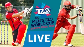 LIVE CRICKET - ICC Men's T20 World Cup Europe Final 2019 - Jersey vs Denmark. Starts 10.45 BST