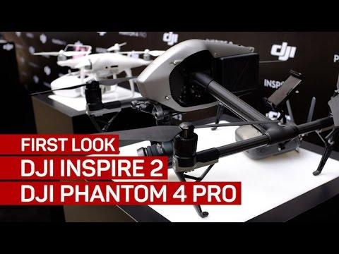 6d2c28fe24d First look  DJI Inspire 2 and DJI Phantom 4 Pro - YouTube