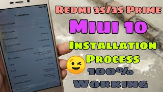 Finally Miui 10 Install on Redmi 3s/3s Prime - Full Installing Process - 100% Working