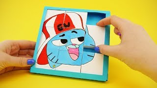 Amazing World of Gumball Paper Game Transformer | BARLEY-BREAK PUZZLE CARTOON NETWORK STYLE