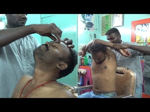 World's Best Head & Upper Body Massage with Crack | 100 % Relax with Asleep,,,