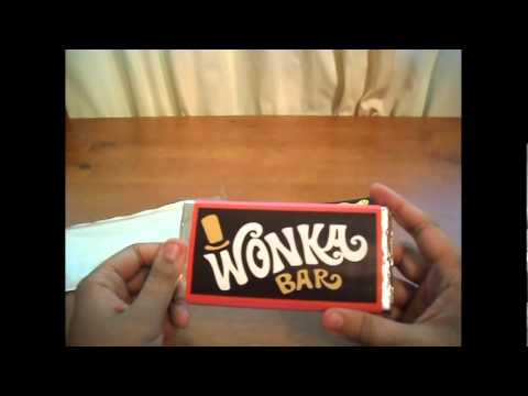 Review Room willy wonka chocolate bar with golden ticket