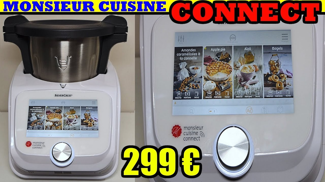 monsieur cuisine connect lidl silvercrest skmc 1200 a1 test avis notice d ballage unboxing youtube. Black Bedroom Furniture Sets. Home Design Ideas