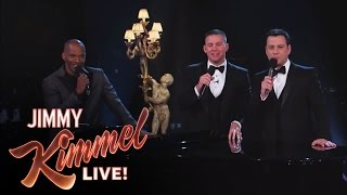 Channing Tatum and Jamie Foxx on Jimmy Kimmel Live: After the Oscars PART 5