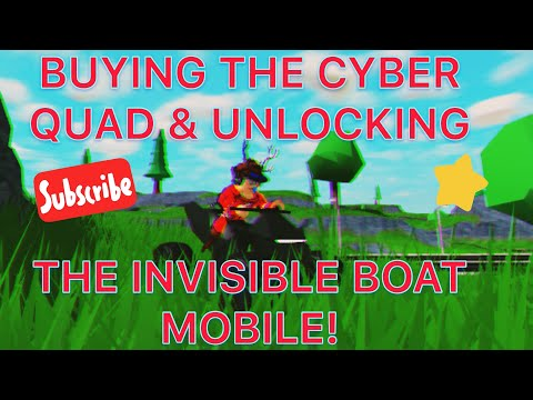 BUYING CYBER QUAD & UNLOCKING INVISIBLE BOAT MOBILE IN MAD CITY! Ft NapkinNate (Roblox)