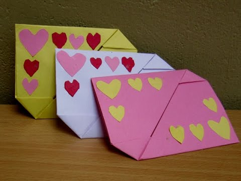 how to make a paper valentines day gift cover envelope easy tutorials