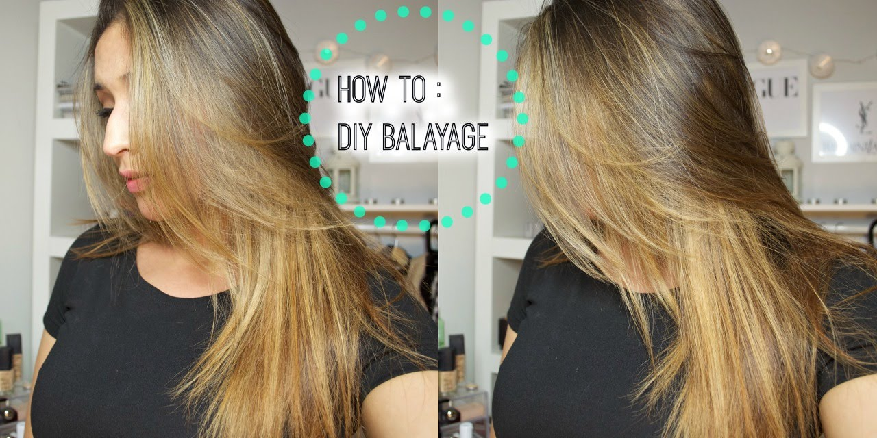 How To Diy Lightenbalayage Your Hair At Home Youtube