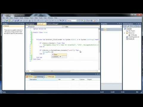 Visual Basic Tutorial 23 - Introduction to the Graphical User Interface