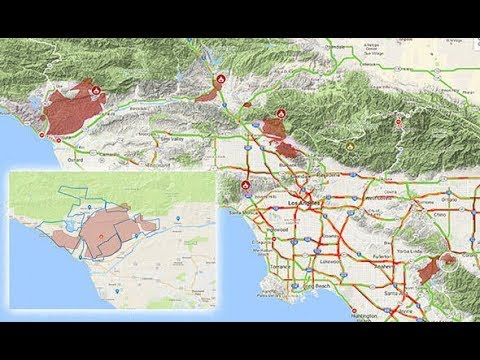 California fires Los Angeles fire evacuation map – LATEST