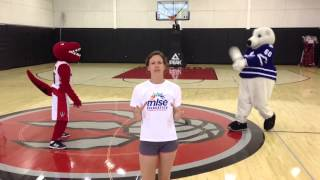 Kate, Raptor and Carlton Practice for HOPE Volleyball
