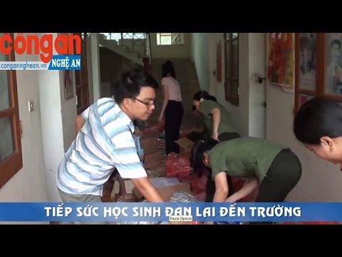Tiếp sức học sinh Đan Lai đến trường