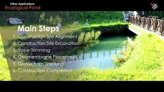 "Geosynthetic Application | How ""Lining for Artificial Ponds"" is done?"