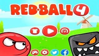 Red Ball 4 Игровой Мульфильм Красный шарик против квадратных инопланетян прохождение на Ipad