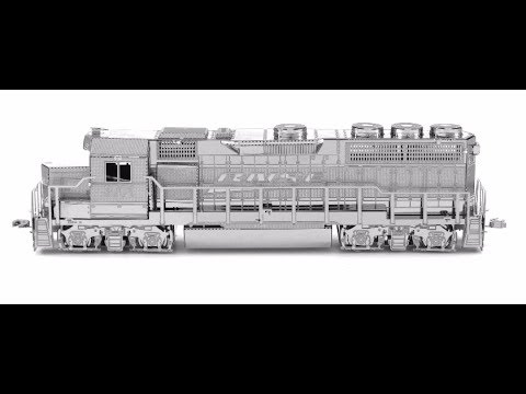Metal Earth 3D Metal Model Diesel Locomotive And Gondola Car