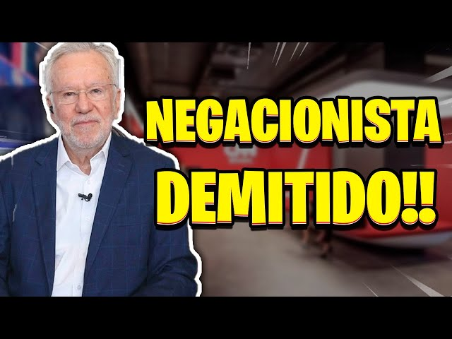 NEGACIONISTA NA RUA!! ALEXANDRE GARCIA DEMITIDO DA CNN BRASIL!!