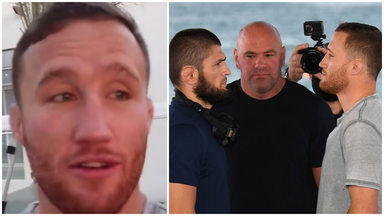 Justin Gaethje says what he saw in Khabib's eyes during face off - UFC 254