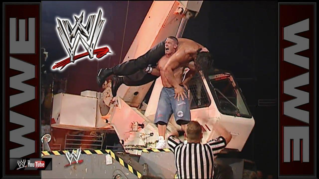 John Cena Vs The Great Khali Falls Count Anywhere Wwe