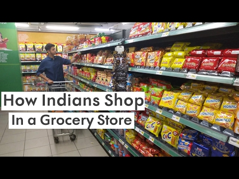 How Indians Shop In A Grocery Store