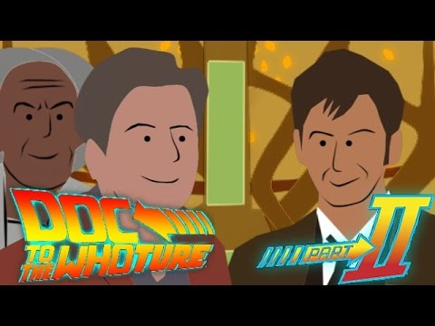 Doc to the Whoture. Pt 2 - Doc Brown and Marty Visit the TARDIS
