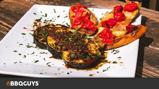 Grilled Eggplant with Garlic Sauce Recipe | BBQGuys