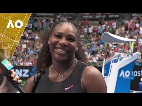 Serena Williams on court interview (1R) | Australian Open 2017