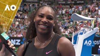 Serena Williams on court interview (1R) | Australian Open 2017